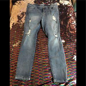 Torrid size 16 destructed skinny jeans